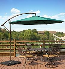 Cantilever Patio Umbrella With Base Amt Deluxe Adjustable Offset Cantilever Hanging 10