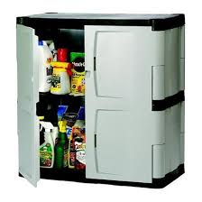 Garage Storage Cabinets Rubbermaid Plastic Base Cabinet Utility Or Garage Storage