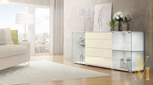 Schlafzimmer Zeta Kommode Highboard Creme Hochglanz Bestseller Shop Für Möbel Und