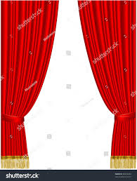 red stage curtain isolated on white stock vector 49074244