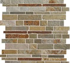 Rusty Brown Slate Mosaic Backsplash by Http Www Lunadabaytile Com Falling Water Slate Earth Substitute