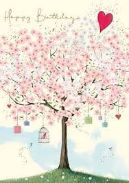 birthday card present tree design size 4 75 x 6 75 gh0579
