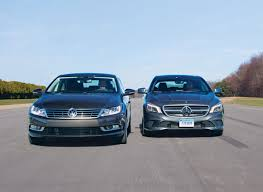 volkswagen cc vs mercedes cla250 road test review