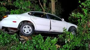 police search for occupants who crashed vehicle into tree and fled