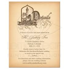 wedding invitations details card fairytale wedding invitations fairy tale wedding details
