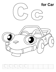 car coloring pages alphabet c alphabet coloring pages of