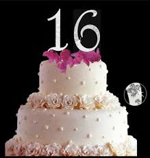 marilyn s caribbean cakes sweet sixteen cake topper with