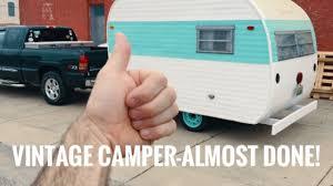 vintage camper restoration it u0027s almost done restoring a