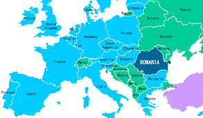 The Map Of Europe by Romania Map Of Europe Travel Map Vacations Travelsfinders Com