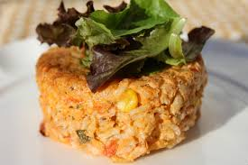 Lake Lure Cottage Kitchen - tomato sweet corn and basil risotto cakes lake lure cottage