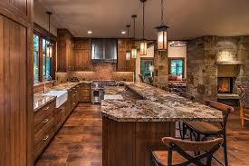 granite kitchen islands with breakfast bar rustic kitchen with high ceiling ceramic tile in truckee ca