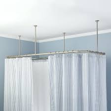 Sliding Curtain Rods Best 25 Shower Curtain Rods Ideas On Pinterest Suspension Rod