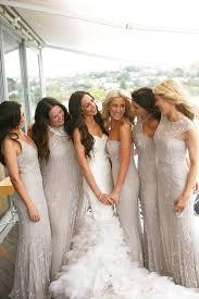 bridesmaid dresses silver best 25 silver grey bridesmaid dresses ideas on