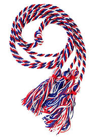 graduation chords graduation cord white and blue