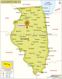 Aurora Illinois Map by Where Is Peoria Located In Illinois Usa