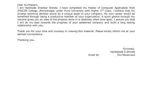 cover letter for freshers cover letter format for job application for freshers sample cover