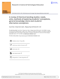 a review of chemical bonding studies needs aims methods of