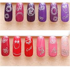 3 99 12pcs 3d nail stickers silver crown bowknot butterfly flower