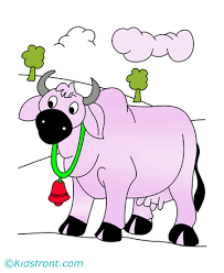 beautiful cow coloring pages for kids to color and print