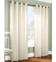 White Ruffle Curtain Panels Thermal Grommet Top Curtains Grommet Top Insulated Panels