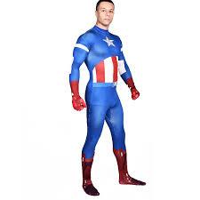 Captain America Halloween Costumes Aliexpress Buy Captain America Costume Blue