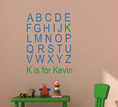 Alphabet Wall Decals For Nursery Abc Wall Decal Alphabet Wall Sticker Name Decal