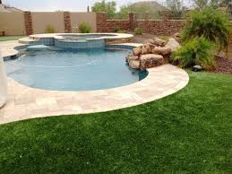 Synthetic Grass Backyard East Mesa Artificial Grass Supplier Centurion Stone Of Arizona