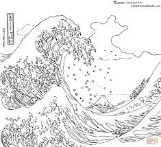 coloring pages waves coloring