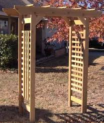wedding arch blueprints brand new all cedar classic garden arbor pergola arch garden