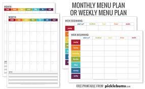 printable weekly and monthly planner 2015 simple home organisation printables picklebums