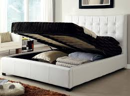 modern storage bed athens white by at home usa