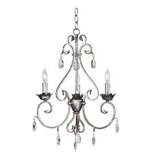 Country French Chandelier by Eurofase Zinco Collection 7 Light Oval Aged Silver Chandelier