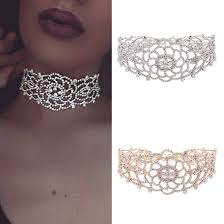 rhinestone choker collar necklace images Luxury full diamond pendant chain necklace crystal rhinestone jpg