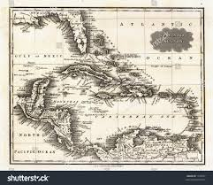 Caribbean Sea Map by 1799 Antique Map West Indies Caribbean Stock Illustration 1193587