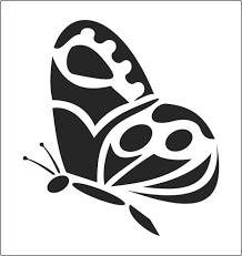 detailed single butterfly stencil available to buy