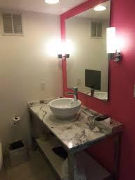 Flamingo Bathroom Flamingo Bathroom Notice Small Tv Built In To Mirror Picture