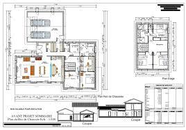 plan maison en u ouvert maison etage entree sud