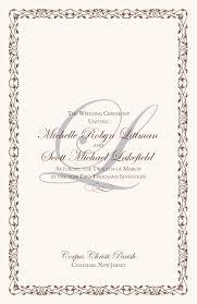 catholic wedding program cover wedding program covers designs endo re enhance dental co