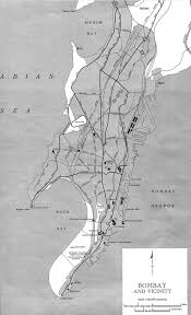 Bombay India Map by Bombay India Historical Map 1954 City Plan Maps Of India