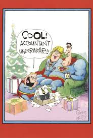 accountant super christmas funny humorous christmas card by