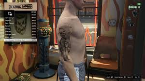 image tattoo gtav online male right arrm grim reaper smoking gun