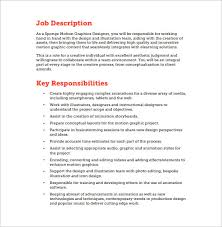 graphic design position description resume cv cover letter