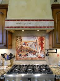 Mexican Tile Murals Chili Pepper Kitchen Backsplash Mural - Backsplash mural