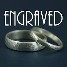wedding ring engraving hammered bands with inside ring engraving personalized