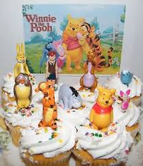 winnie the pooh cake topper disney winnie the pooh cake toppers set of 9 figures with pooh
