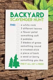 backyard treasure hunt this printable backyard scavenger hunt is a great way to entertain