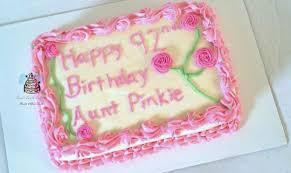 92nd pink and white birthday sheet cake cake by carsedra glass