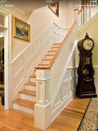 Oak Banisters And Handrails Oak Steps White Spindles And Baluster Hallway Pinterest