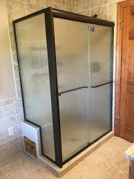 j u0026 a glass custom shower glass frosted tinted clear shower