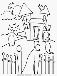 stunning easy haunted house coloring pages contemporary